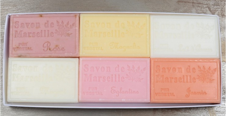 For Her Gift Box of Soaps From Marseille