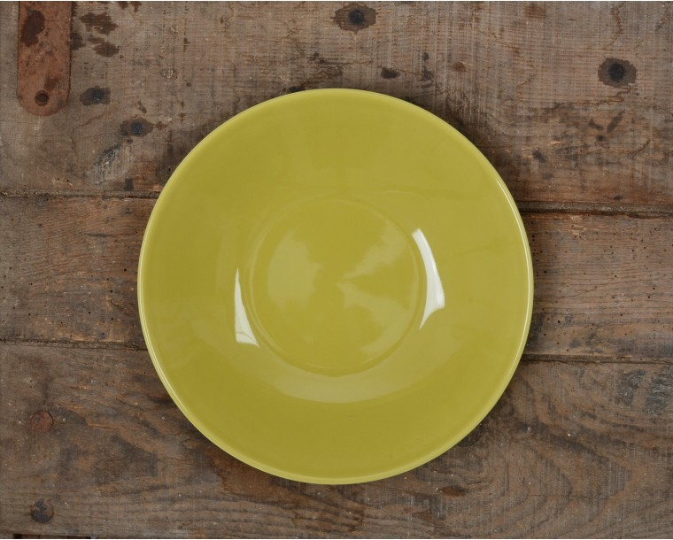 GREEN SPRING SOUP PLATE & Plates in color porcelain Apilco 100% Made in France - Vacances ...