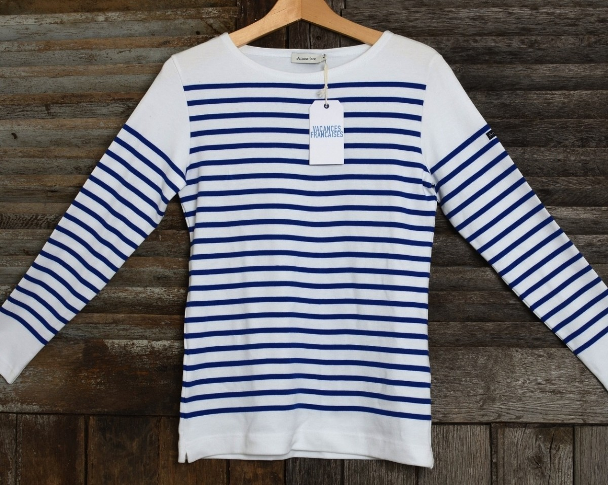Sailor shirt 100 made in france vacances fran aises for Striped french sailor shirt